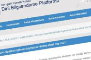 터키의 최고 종교 기구이면서 이슬람 담당 부처인 '디야네트'(Diyani, 종교청) 홈페이지 캡춰.