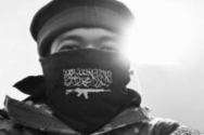 인도네시아 국적 불법체류자 카심(33) 씨가 '알누스라 전선' 문양이 새겨진 두건과 전투복을 착용하고 찍은 사진을 자신의 소셜 네트워크 계정에 올렸던 모습.
