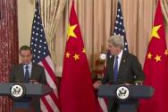 존 케리 미국 국무장관과 왕이 중국 외교부장