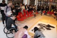 스웨덴국립박물관 관람자 사인회 모습
