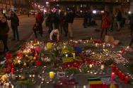테러 희상자들을 애도하는 브뤼셀 시민들