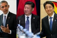 버락 오바마 시진핑 아베 신조 미중일 정상