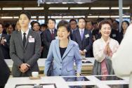 박근혜 대통령 송중기