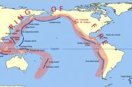 '불의 고리' 환태평양 조산대, 지진