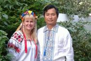 김병범 선교사(오른쪽)와 김 나탈리야 사모.