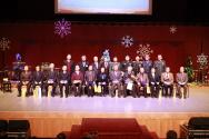 행사를 마치고 기념촬영에 임하고 있는 군선교연합회 순서자 및 관계자들.