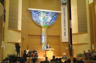 KWMA의 제27회 정기총회 개회예배가 열리고 있는 사랑의교회.