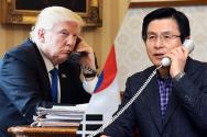 전화통화 황교안 권한대행 트럼프 미국 대통령 / KBS