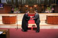 광림교회가 지난 3월 26일 주일 2부예배와 3부예배에서 육군훈련소 연무대교회 건축후원금 전달을 하는 자리를 가졌다.