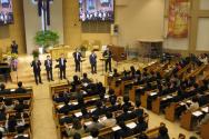 기독교대한성결교회(총회장 여성삼 목사, 이하 기성)가 3일 낮 한우리교회(담임 윤창용 목사)에서 목사안수자들을 위한 '제110년차 성결인대회'를 개최하고, 목회를 준비하는 이들의 결의를 다지는 시간을 마련했다.