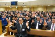 기도 기독교대한성결교회(총회장 여성삼 목사, 이하 기성)가 3일 낮 한우리교회(담임 윤창용 목사)에서 목사안수자들을 위한 '제110년차 성결인대회'를 개최하고, 목회를 준비하는 이들의 결의를 다지는 시간을 마련했다.