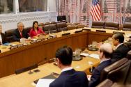 미국 틸러슨 국무장관 중국 왕이 외교부장
