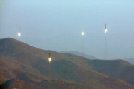 북한 탄도미사일 발사 모습(사진=노동신문 자료)