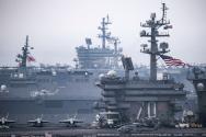미국 핵추진 항공모함 칼 빈슨호 로널드 레이건호