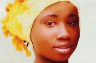 나이지리아 기독교인 여학생 리아 샤리부. 그는 예수를 부인하지 않는다는 이유로 여전히 보코하람에게 붙잡혀 있다.