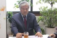 전광훈 목사. 그는 최근 있었던 큰 수술로 말미암아 많이 수척해진 상태였지만, 한국교회와 대한민국을 다시 살리겠다는 열의만큼은