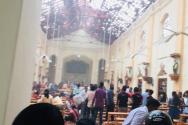 자살폭탄 테러 당시 찍은 스리랑카 교회 내부 사진