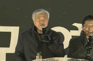한기총 대표회장 전광훈 목사(왼쪽)가 설교하고 있다.