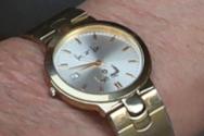 이만희 신천지 총회장이 2일 기자회견에 차고 나온 손목시계