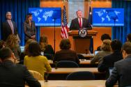 마이크 폼페오 미국 국무장관이 11일 워싱턴 국무부 청사에서 '2019 국가별 인권보고서'를 발표했다. ⓒ U.S. Department of State