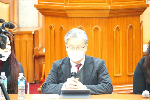 한동협 총신대 이상원교수 징계반대 긴급 기자회견