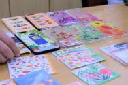 장애인 화가들이 그린 미술 작품을 이용해 만든 아트상품