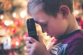 소년 기도 순수 단순