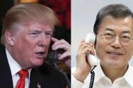 트럼프 미국 대통령(왼쪽) 문재인 한국 대통령.