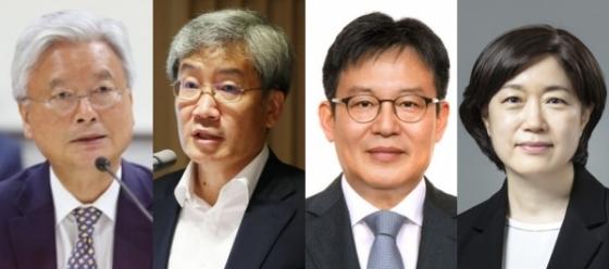 왼쪽부터 조윤제·고승범·주상영·서영경 한국은행 금융통화위원회 위원
