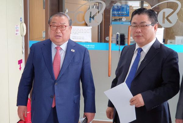 한기총 비대위 엄기호 목사 김정환 목사