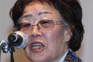 일본군 위안부 피해자인 여성인권운동가 이용수 할머니가 지난 25일 오후 대구 수성구 인터불고호텔에서 기자회견을 하던 모습. ⓒ 뉴시스