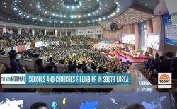 미국 방송사 NBC가 27일(현지시간) 국내 최대 교회인 여의도순복음교회(담임목사 이영훈)를 찾아 생활방역지침을 지키며 예배를 진행하는 모습을 보도했다. ⓒ 온라인 캡춰