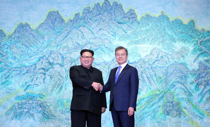 김정은 문재인 대통령