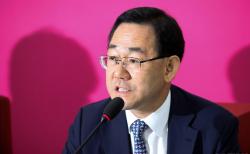 주호영 미래통합당 원내대표가 29일 오전 서울 여의도 국회에서 원구성 협상 결렬과 관련해 기자간담회를 하고 있다. ⓒ 뉴시스