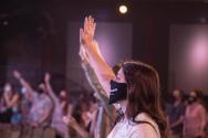 마스크 예배 미국 기독교 교회