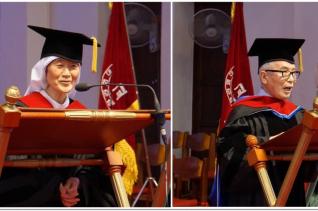 왼쪽부터 오인숙 사제수녀,  김상근 KBS 이사장