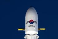 20일 오후(미국 현지시간) 군 독자 통신위성 ANASIS-II호가 발사 준비를 하고 있다. 2020.07.21. (사진=방위사업청 제공)