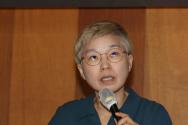 김재련 법무법인 온-세상 대표 변호사가 지난 22일 오전 서울의 한 모처에서 열린 '박 시장에 의한 성폭력 사건 피해자 지원단체 2차 기자회견'에 참석해 발언하고 있다. ⓒ 뉴시스