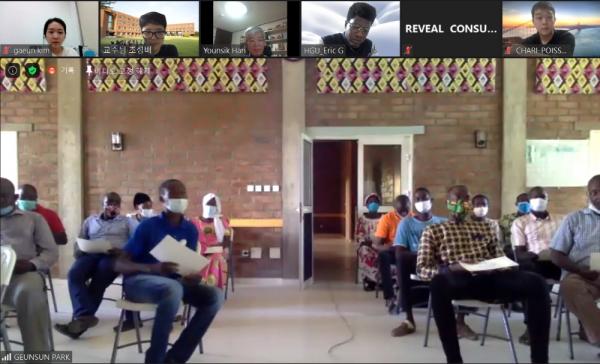 ZOOM을 통해 진행되는 차드 온라인 디자인 스프린트 캠프