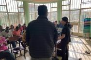 한국 순교자의 소리 현숙 폴리 대표. 트라우마의 정의와 극복 방법에 관하여 에리트레아 교회 지도자들에게 강의하고 있다.