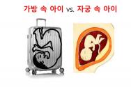가방 속 아이와 자궁 속 아이