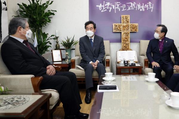 이낙연 대표 NCCK 윤보환 회장 이홍정 총무