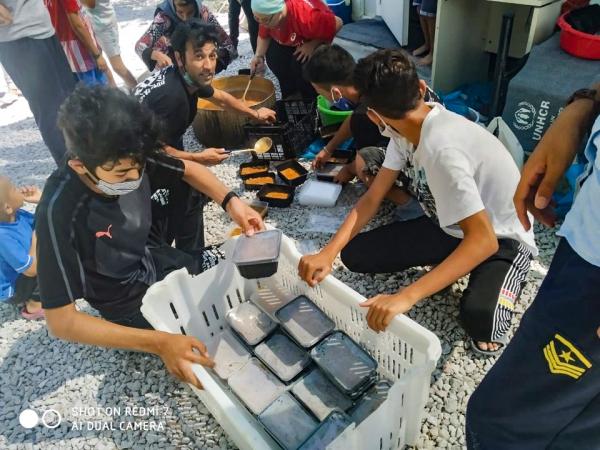 레스보스섬 모리아 난민 캠프