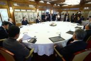 지난 4월, 정세균 총리와 종교 지도자들과 가진 간담회