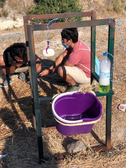 그리스 레스보스섬 모리아 난민캠프