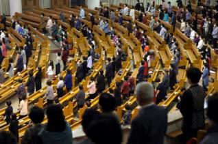 코로나 교회 예배