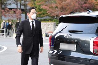 이건희 삼성그룹 회장이 별세한 지난 25일 서울 강남구 삼성서울병원 장례식장에 이재용 삼성전자 부회장이 도착하고 있다. ⓒ 뉴시스