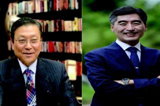 단독후보 총회장 박문수 목사(왼쪽), 제1부총회장 김인환 목사(오른쪽) 만장일치 박수로 추대됐다.