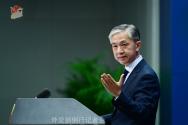 중국 외교부에 따르면 왕원빈 대변인