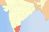 인도 타밀나두 지도